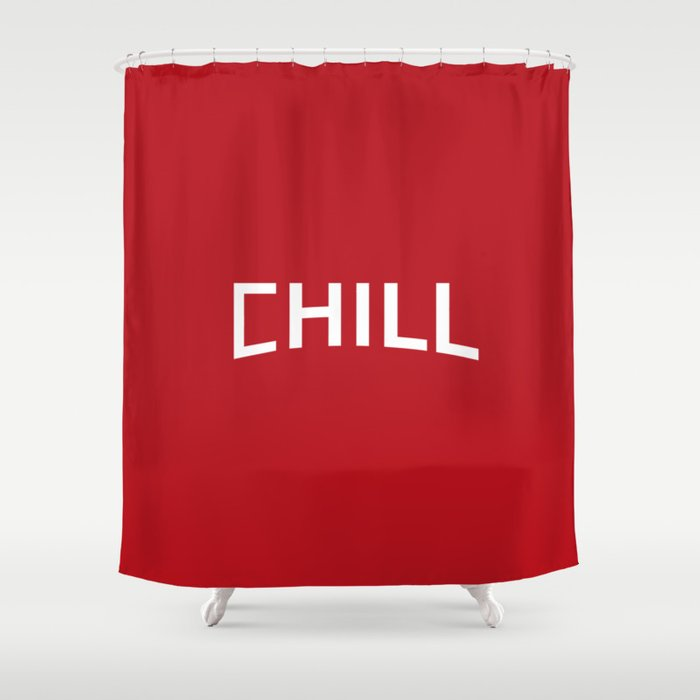 Red Chill Shower Curtain