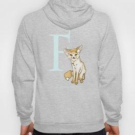 F is for Fennec Fox: Under Appreciated Animals™, ABC nursery kids room decor lime unusual animals Hoody
