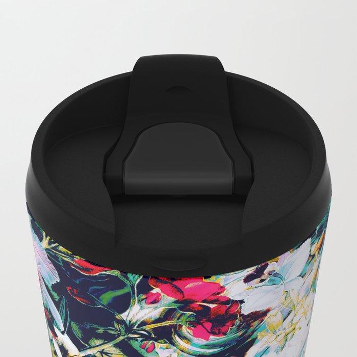 RPE ABSTRACT FLORAL -IV Metal Travel Mug