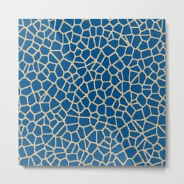 staklo (dark blue with coffee) Metal Print