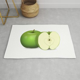 Apple Cut in Half Rug