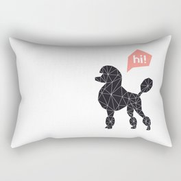 Hi! poodle Rectangular Pillow