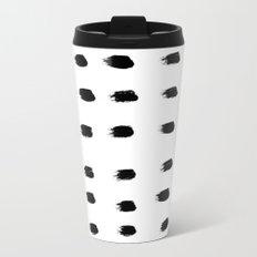 Jacques Pattern - Pure White Metal Travel Mug