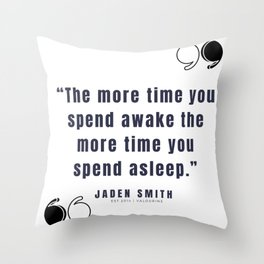 36  |  Jaden Smith Quotes | 190904 Throw Pillow