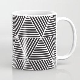 Black and White triangle pattern design Coffee Mug