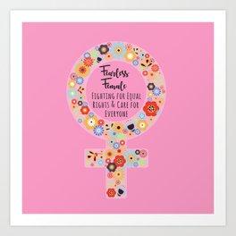 Fearless Female Pink Art Print