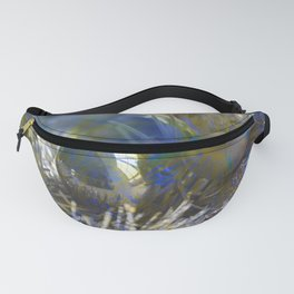 Christmas tinsel and baubles in silver tones Fanny Pack