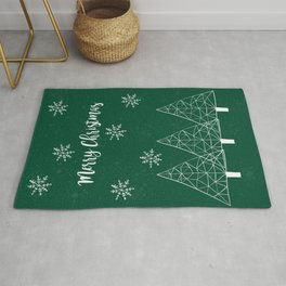 Merry Christmas Green Rug