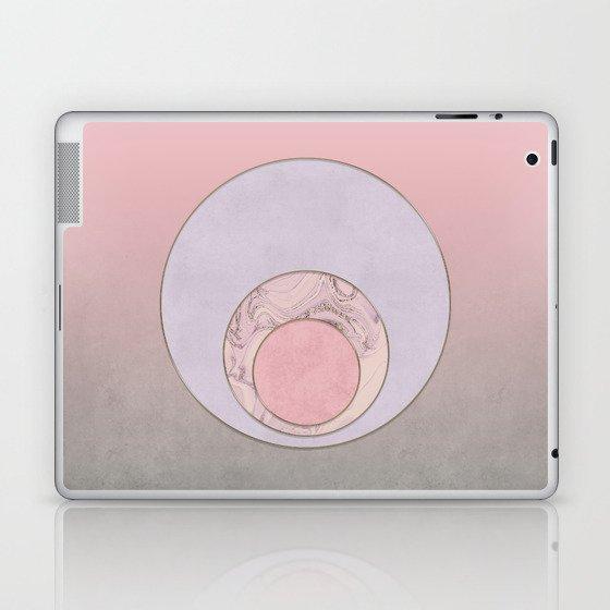 Soft Pastel Elegant Circles Laptop & iPad Skin