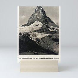 classic poster zermatt schweiz das matterhorn von der gornergratbahn gesehen cervin Mini Art Print