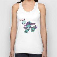 roller derby Tank Tops featuring Roller Derby Motherf***er by Kiwii Illustration