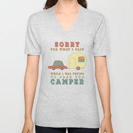 Camping Camper - Sorry For What I Said Vintage Retro Unisex V-Neck