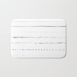 Minimalist Lines in Gray Bath Mat