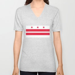 Flag of the District of Columbia - Washington D.C authentic version Unisex V-Neck