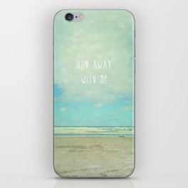 run away with me iPhone Skin