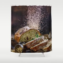 Fresh Bread Thanksgiving (Color) Shower Curtain