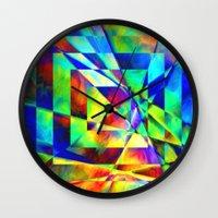 illusion Wall Clocks featuring Illusion. by Assiyam
