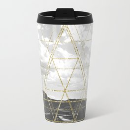 Gold Glitter Sacred Geometry Travel Mug