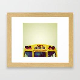 Yellow Bus Framed Art Print