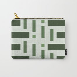 Pattern of Squares in Green Carry-All Pouch