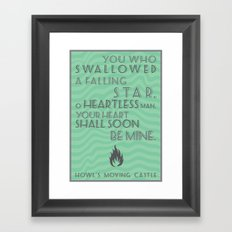 Howl's Moving Castle Quote Framed Art Print
