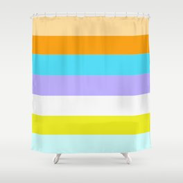 PERFECT ILLUSION BACKGROUND (aka NEW GAY FLAG ) Shower Curtain
