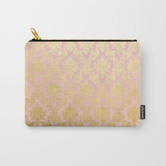 Princess like - Luxury pink gold ornamental damask pattern Carry-All Pouch