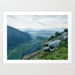 View at Delphi, Greece Art Print