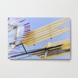 Yellow Arrow Metal Print