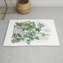 greenhouse illustration Rug