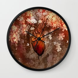 This Bleeding Blossoming Heart Wall Clock