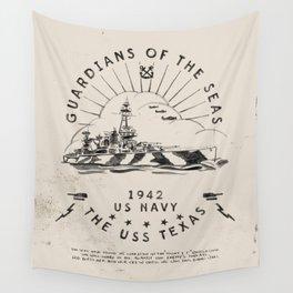 USS Texas Battleship, US Navy Wall Tapestry