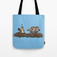 woody Tote Bags featuring Woody by Rodrigo Ferreira