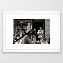 A different look. Framed Art Print