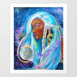 Selene the Moon goddess Art Print