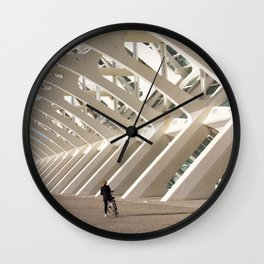 Biker and the skeleton Wall Clock
