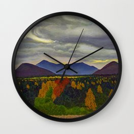 Sun through Clouds on Autumn Foliage by Rockwell Kent Wall Clock