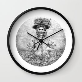 Undead Woman n Vintage Camera Wall Clock