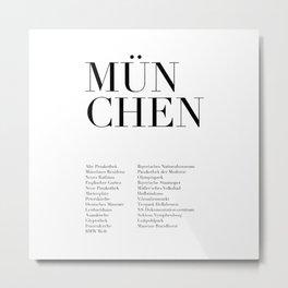 München Monuments Metal Print