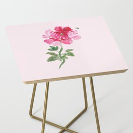 Peony and Bee Side Table