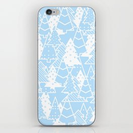 Elegant Christmas Trees Holiday Pattern iPhone Skin