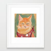 ginger Framed Art Prints featuring Ginger by Katie O'Hagan