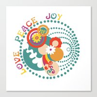 70s Canvas Prints featuring 70s Circle  by Louise Machado
