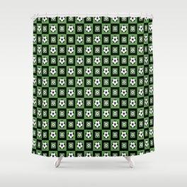Soccer Motif Pattern Shower Curtain
