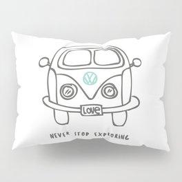Never stop exploring Pillow Sham