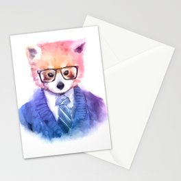 Cute fashion hipster animals pets red panda Stationery Cards