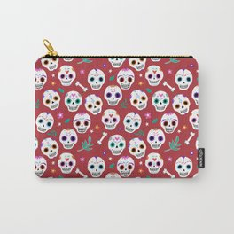 Red Sugar Skulls Carry-All Pouch