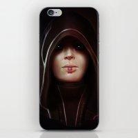 mass effect iPhone & iPod Skins featuring Mass Effect: Kasumi Goto by Ruthie Hammerschlag