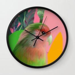 Love Bird with Palms Wall Clock