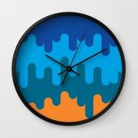 british Wall Clocks featuring British Summer by John Tibbott
